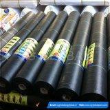 Couverture au sol tissée par noir de couvre-tapis de barrière de lutte contre les mauvaises herbes En roulis