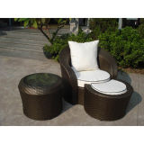 Sala de estar Uv-Resistente do Chaise do Rattan (WS-06004)