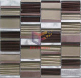 Wellen Glass Mix Farbige Aluminium Mosaic (CFA59)