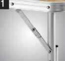 Im Freien Möbel 3 faltende BBQ-Tisch-faltbares bewegliches Koffer-Aluminiumpicknick-kampierende im Freienpartei-Strand-Garten-Funktions-Tisch-Möbel
