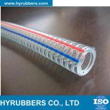 Tuyau flexible de tuyau en acier au PVC