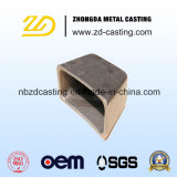 Pezzo fuso dorato dell'acciaio legato della fonderia dell'OEM Cina per il lastricatore del passo
