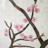 De decoratieve Materiële Muurschildering van het Mozaïek van het Gebrandschilderd glas van de Muurschildering van de Bloem voor Verkoop