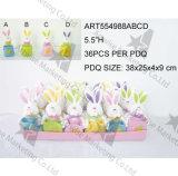 Het gelukkige Konijn -4asst, 24PCS van de Gift van de Kaarthouder van Pasen per PDQ