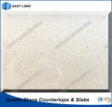 De opgepoetste Kunstmatige Plak van het Kwarts voor de TegenBovenkant van de Bovenkant van de Lijst met Uitstekende kwaliteit (Marmeren kleuren)