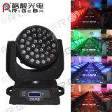 DMX 36X10W RGBW 4in1 LED Wäsche-Summen-bewegliches Hauptlicht