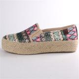 Frauen-Schuh-Segeltuch-Schuhe mit Hanf-Seil GummiOutsole Snc-28065