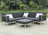 Beiläufiges selektionelles Metallsofa-gesetzte Aluminiumim freiengarten-Möbel