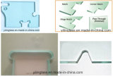 Ausgeglichenes Glas-Tür mit Säure ätzte Muster