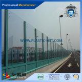 Folha acrílica contínua útil da barreira sadia para o lado na ponte
