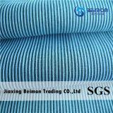 工場Supply— 10.5mm 25%Silk 75%の綿の糸の染められた縞ファブリック