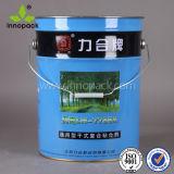 ペンキまたは潤滑油またはオイルまたはコーティングの化学使用のためのMetaleのハンドルが付いている20L金属のバケツ