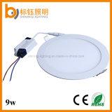 OEM/ODMの工場9W円形の極めて薄いLEDハウジングの照明天井ランプのパネル