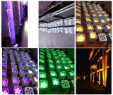 6X18W RGBWA+UV無線DMX LEDの平らな同価電池式LEDの同価のための同価軽い結婚のUplight