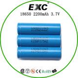 18650 3.7V 2200mAh再充電可能な李イオン電池