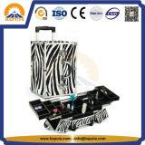 Berufskosmetischer Aluminiumfall mit Tellersegmenten für Salon Hb-1311