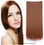 Верхнее Quality Star Women Long Straight Yellow Hair Extension с Clip