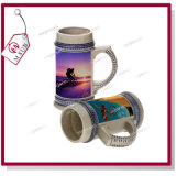 새로운! ! ! Blue Rim를 가진 22oz Sublimation Beer Mugs