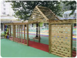 Kaiqi 아이들 주거 공원, 뒤뜰, 호텔 Gardenl (KQ60094A-I)를 위한 나무로 되는 옥외 운동장 세트
