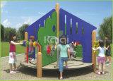 Patio al aire libre del PE de madera tamaño pequeño de Kaiqi para el patio trasero, el jardín y el parque residencial
