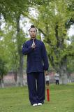 Vestiti Relaxed di esercitazioni di doppi sport caldi spessi maschii di tela di Taoism di inverno e di autunno
