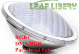 수중 54W RGB PAR56 12V 수영풀 빛 LED 수영장 빛 수중 빛이 54W LED 연못에 의하여 점화한다