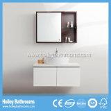 Modern Wood MDF Meubles de salle de bain Craft en verre avec armoire de rangement (BF140D)