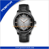 Reloj Date Time de las mujeres de los hombres del caso brillante de la alta calidad con la cara azul