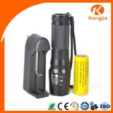 Mini antorcha recargable de aluminio ultra brillante del CREE LED