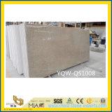Pedra artificial projetada branca de quartzo da faísca para telhas de assoalho/bancadas