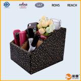 Boîte de stockage chaude de bureau de cuir de noir de vente