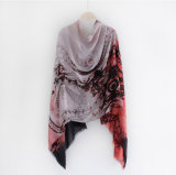 Шарф женщин хлопка способа напечатанный Paisley Viscose Silk (YKY1154)