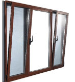 Glazed doppio Aluminum Profile Side Hung Tilt e Turn Window