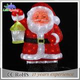 휴일 주제 LED 아크릴 산타클로스 크리스마스 훈장 빛