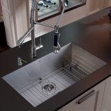 Dissipador de cozinha Handmade moderno do aço R0 Ns-2301 inoxidável