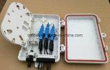 Rectángulo terminal óptico plástico de fibra del shell FTTH 6port