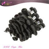 化学薬品の自由で自然で黒く加工されていないインドのバージンのRemyの毛