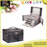 Caselle di cuoio 2016 del campione dei contenitori di monili dell'unità di elaborazione di abitudine di lusso di moda della fabbrica della Cina (8268)