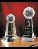 Concesiones cristalinas de encargo del cristal del color del doble del trofeo K9 - grabado libre