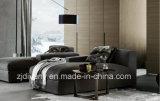 Sofá de couro de madeira D-63 ajustado F da sala de visitas moderna italiana do estilo (R) +H (L) +K