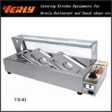 최신 Sale Restaurant Food Warmer, 5 Basins 의 Flat Glass Top Cover 세륨 Approved (VB-85)를 가진 Commercial Electric Bain Marie