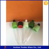 conta-gotas de vidro do centro de deteção e de controlo de 18mm Te para o frasco de vidro de Ejuice