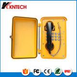 Teléfono resistente de Industial del vándalo impermeable resistente del teléfono Knsp-01t2s