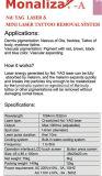 Q-Switched Nd: De tatoegering-Verwijdering van de Laser YAG de Schil van het Systeem +Carbon + de Verwijdering van de Paddestoel van de Spijker