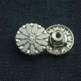 Изготовленный на заказ Rhinestone шикарный извлекает кнопки металла