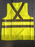 Safety feito sob encomenda Vest com Four Pockets em The Front/Motorcycle Jacket/Reflective Material