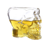 Botella de consumición del cráneo de la pista de la vodka del whisky de tiro de la taza cristalina del vidrio