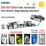 Full Auto Non Woven Box Bag Forming Machine mit Handle Attach (AW-XA700-800)
