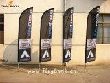 bandeira do vôo da impressão da promoção do evento de 3.4m/bandeira laterais dobro de alumínio da pena
