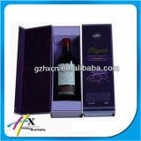 Boîte de papier de empaquetage à vin de cadeau de luxe avec la garniture intérieure en soie